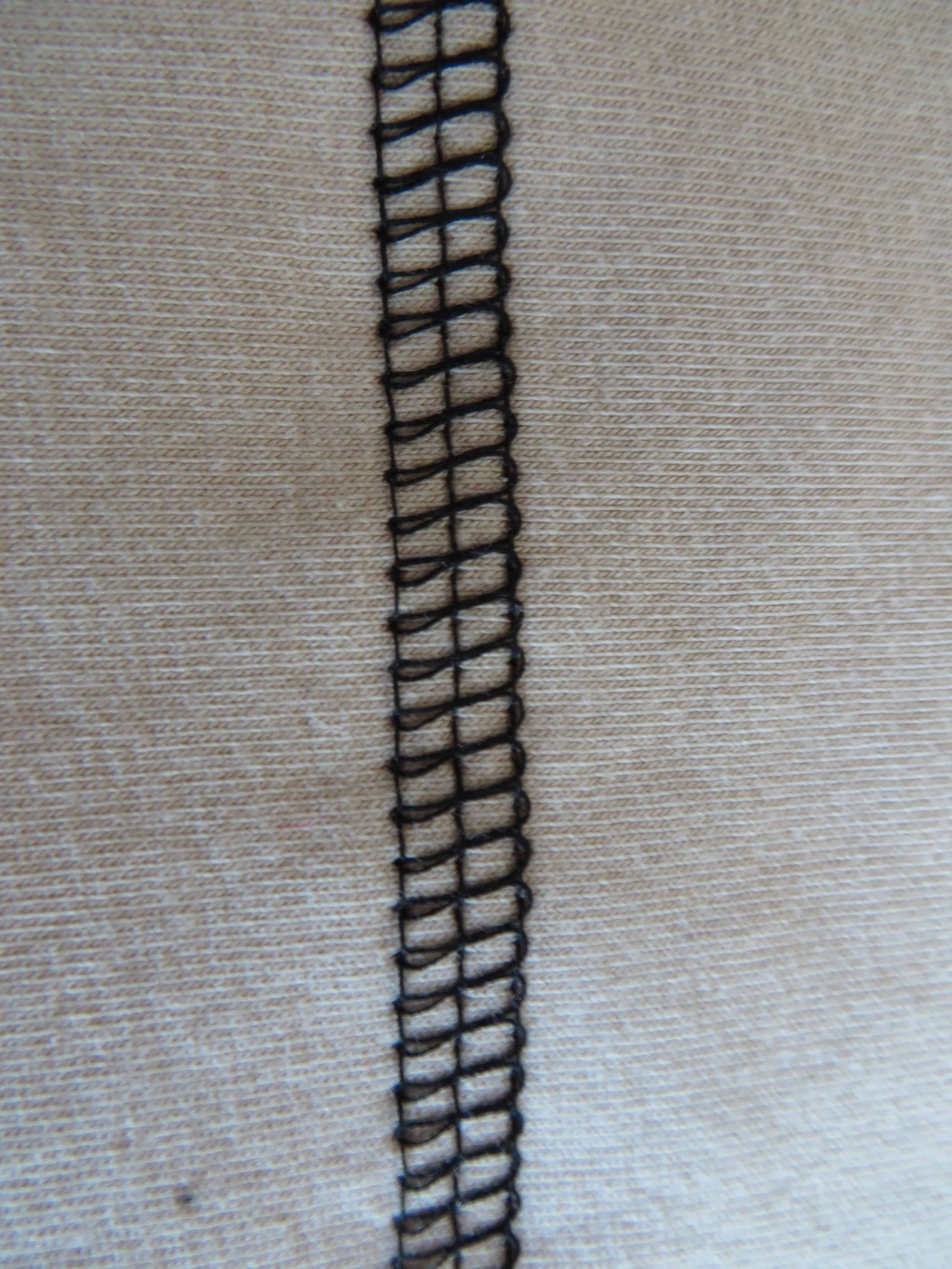 Top and bottom coverstitch front side