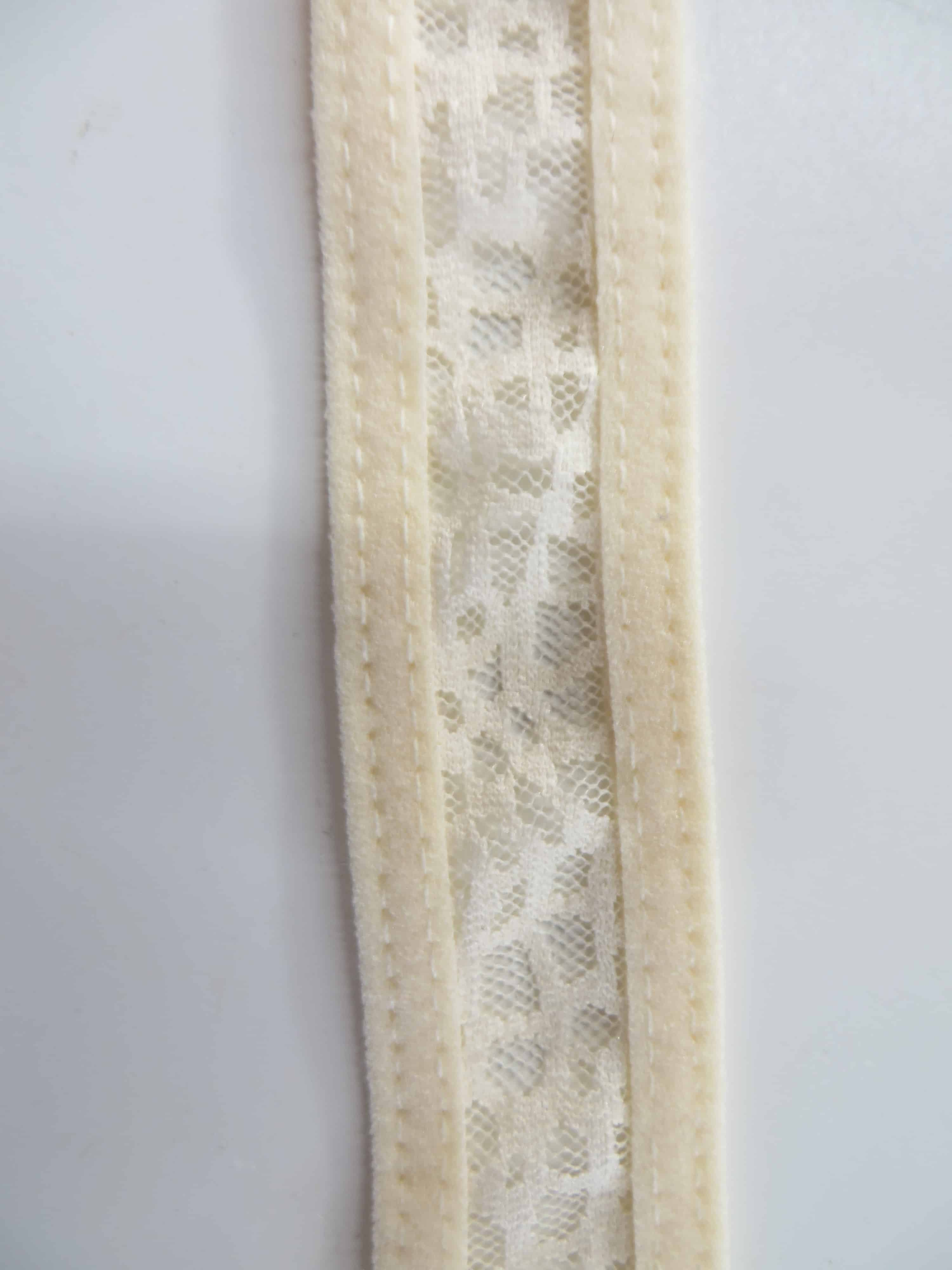 two needle coverstitch on fold over elastic front side